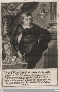 "Porträtstich von Joseph Furttenbach d.J., aus ""GottsAckhers-Gebäw"", 1653."